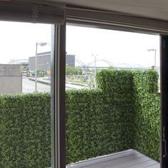 Artificial Ivy Balcony Rail Hedge Privacy Screen At Home Infatuation Blog