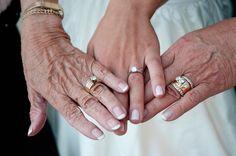 three generations of wedding rings! So cute! #WeddingPhotographerMinnesota