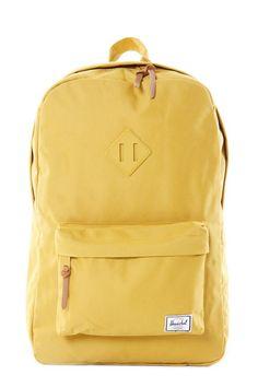 yellow Herschel heritage backpack