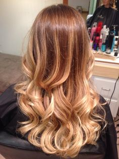 SOMBRE! Brunette with blonde ombre highlights