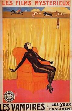 "Irma Vep, the anti-heroine of the French silent film serial ""Les Vampires"", 1915-16"