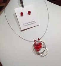 Isabelle Lehoux Montréal - Duo Coeur passion Swarovski, Passion, Isabelle, Murano Glass, Handcrafted Jewelry, Fantasy, Bead