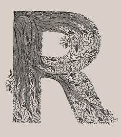 Into The Woods ~ Typography sketchbook by Meni Chatzipanagiotou