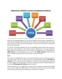 Importance of human resource management software