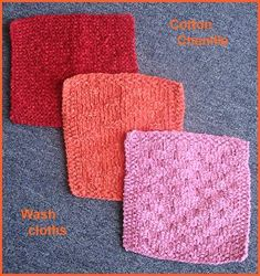 Knit Wash Cloth - free pattern for Cotton Chenille from Crystal Palace Yarns