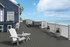 """Co-extrusion decking is also called """"capped"""" or """"cover"""" decking using the latest technology co-extrusion. Before Co-extrusion decking, the composite decking were uncapped, but Co-e. Deck Stain Colors, Deck Colors, Colours, Wpc Decking, Composite Decking, Decking Boards, Cheap Wood Flooring, Vinyl Flooring, Porch Flooring"""