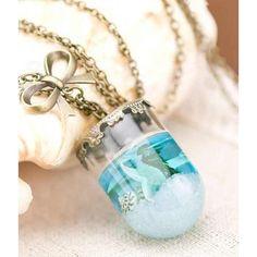 Sea Life inspired Mermaid Tears Necklace