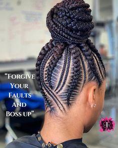 Cornrow Updo Hairstyles, Black Hair Updo Hairstyles, Feed In Braids Hairstyles, Braids Hairstyles Pictures, My Hairstyle, Cornrows Updo, Wedding Hairstyles, Natural Hair Braids, Braids For Black Hair