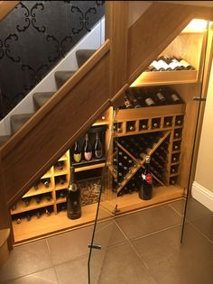 Bespoke Timber Staircase and Loft Stair Manufacturer Together with Stair Parts. Design Staircase Online using our StairBuilder - Instant Quote! Bar Under Stairs, Under Stairs Wine Cellar, Closet Under Stairs, Wine Cellar Basement, Timber Staircase, Staircase Design, Staircase Manufacturers, Cave Bar, Bespoke Staircases