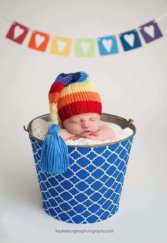 Rainbow baby newborn shoot
