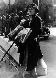 Erica Stone NEWSPAPER PEDDLER, PARIS, 1952