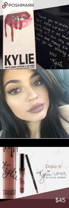 Kylie Jenner lip kit- Dolce k Brand new! • SOLD OUT • lip liner and lipstick • 60$ with box and letter Makeup Lipstick