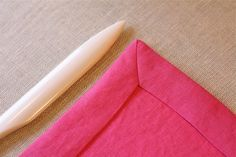 Mitre-edge sewing napkins, the best napkins EVER! I have been making them for years thanks to Martha Stewart's directions in Living Magazine.