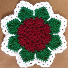 Flat Rose Dishcloth