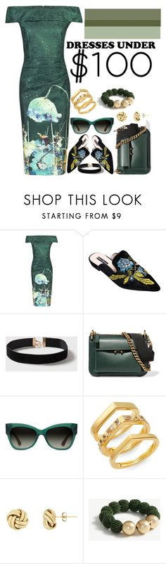 """""""Fairy Green"""" by faithblank ❤ liked on Polyvore featuring Jolie Moi, Dorothy Perkins, Marni, TOMS, Elizabeth and James and Ann Taylor"""