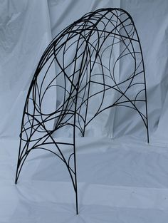 Side view Arbor .painted steel by Kelly Brown/ Bower Bird Sculpture