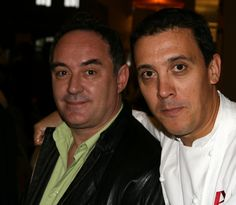 Ferran Adrià & Francis Paniego, Hotel Echaurren, La Rioja at the Culinary Institute of America-Greystone, Napa Valley during the CIA-Worlds of Flavor conference, Napa Valley, 2006. Photo by Gerry Dawes©2013. Contact gerrydawes@aol.com for publication rights.
