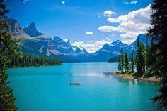 Maligned Lake and Spirit Island, Canada