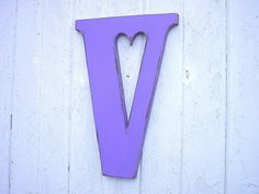 Decorative Shabby chic Wooden Letters V 18 inch by LettersofWood, $42.00