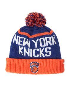 '47 Brand New York Knicks Pom-Pom Linesman Knit Hat