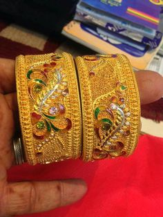 1 Gram Gold Jewellery, Gold Jewelry, Antique Jewellery Designs, Jewelry Design, Most Expensive Jewelry, Antique Gold Rings, Rajputi Jewellery, Gold Bangles Design, Jewelry Patterns