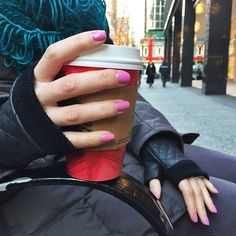 """""""#ManiMonday: Starting off the week with a fresh mani and keeping warm with our @mark_girl fingerless gloves."""" -avoninsider instagram"""