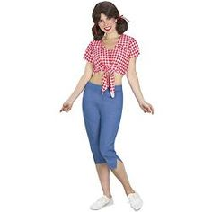 Dress as Mary Ann this Halloween. Wig is included in this costume.