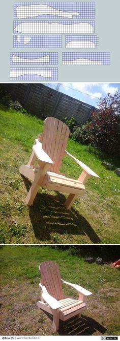 Fauteuil adirondack par blurth - les supports pour réaliser les gabarits pour le fauteuil. echelle 1.