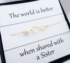 Gold infinity bracelet Sister gifts Friendship by BriguysGirls, $31.50