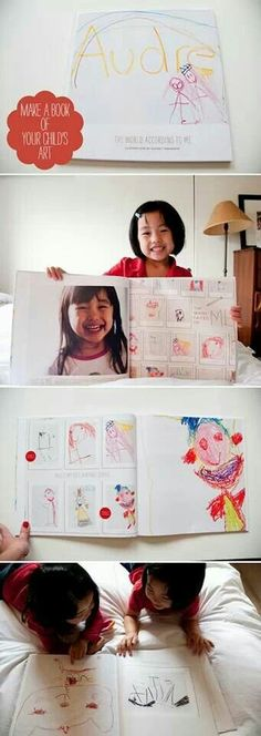 Awesome idea for collecting your kids drawings
