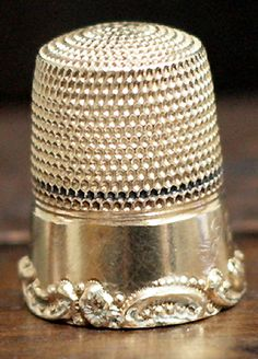 RP:  Estate Antique Victorian Yellow Gold Sewing Thimble - ebay.com