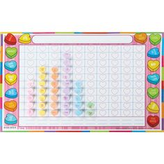 Valentines Day Graphing Grid Activity Mats With Candy
