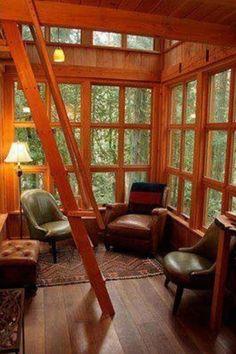 wood interior windows loft ladder the trillium tree house interior lower