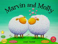 Marvin and Molly story app Pekingese Puppy K5-2 Friendship, sheep