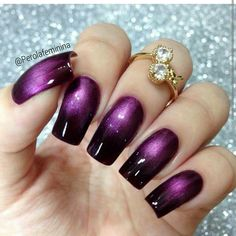 Purple Black Nails