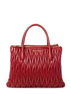2b67b5485bcf Vitello Glazed Lux Leather Double Zip Small Satchel Miumiu Miu Miu  Handbags
