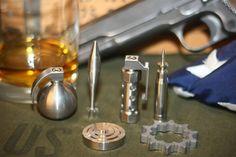 Battle Rattle Whiskey Chillers Will Serve Your Drinks Well :http://coolthingstobuyfor.com/battle-rattle-whiskey-chillers/