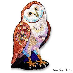 @kimikahara • Instagram写真と動画 Embroidery Designs, Embroidery Art, Embroidery Stitches, Owl Art, Moose Art, Patches, Cross Stitch, Textiles, Photo And Video