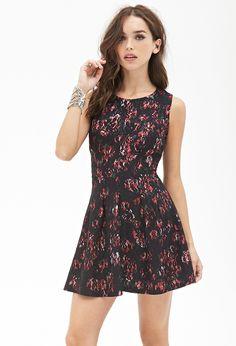 Rose Lace Fit & Flare Dress - Dresses - 2000081944 - Forever 21 EU English