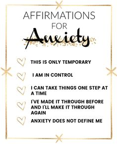 Affirmations that help with anxiety | affirmations for beginners | affirmation guide | how to get rid of anxiety | what to do about anxiety | tips for anxiety