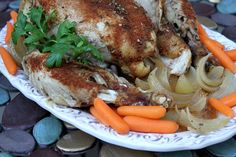 The Best Whole Chicken in the Slow Cooker Recipe Main Dishes with paprika, salt, onion powder, dried thyme, garlic powder, cayenne pepper, ground black pepper, onion, chicken