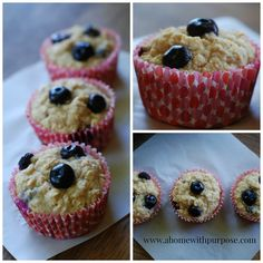 Blueberry Muffins (E)~ GF/SF/DF Options | A Home with Purpose!