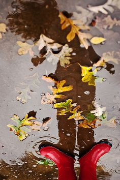 Red Boots-remember the golashes we wore on rainy days?