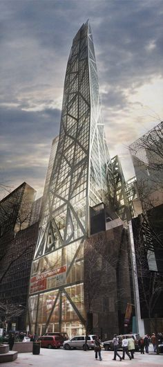 53 West 53rd Tower, former Tower Verre and MOMA Tower , New York City by Ateliers Jean Nouvel :: 77 floors, height 320m :: proposed