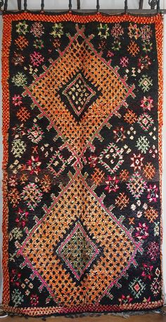 This Vintage Moroccan Rug is beyond incredible. This is the one I wanted to keep for myself. What amazing coloring. From M.Montague.