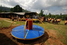 Playground energy leads to - Empower Playgrounds is a nonprofit that gives merry-go-rounds to schools in Ghana that can generate...