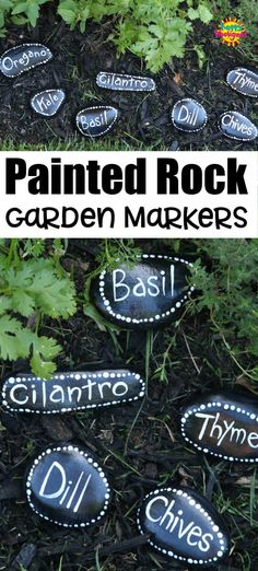 These easy painted rock garden markers are a beautiful way to identify the herbs, vegetables and plants in your garden. They're so quick and easy to make. Great homemade gift for a gardener! #HappyHooligans #Painted #Rock #Stone #Garden #Markers #Herb #Vegetable #Homemade #Gift #Gardener #Nature #Craft #Kids #TweenCraft #TeenCraft #Idea Craft Kids, Crafts For Teens, Top Toys For Girls, Boredom Busters For Kids, Happy Hooligans, Outdoor Gadgets, Gardening Gloves, Gardening Tips, Acrylic Craft Paint