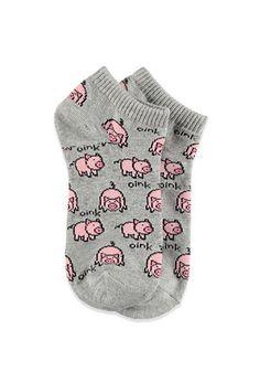 Pig-Patterned Ankle Socks | Forever 21 - 2000156069