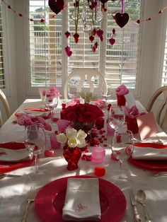 Pink Tablescape - Valentine's Day
