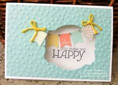 Decorative Dots Embossing Folder, Banner Blast stamp set, Banner Punch